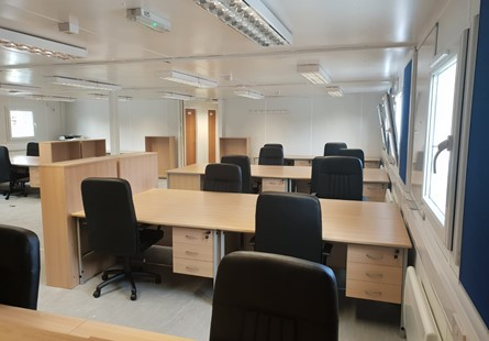 bank of desks