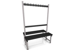 1200 cloakroom double bench