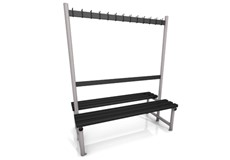 1500 cloakroom double bench
